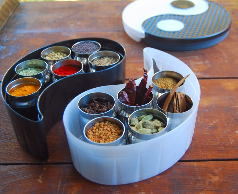 DIY Spice Mixes presented in the Yin Yang Storage Bin Set
