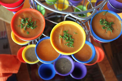 Carrot and Parsnip Soup served in the Stacko Serving Stand