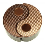 Yin Yang Storage Bin - Brown