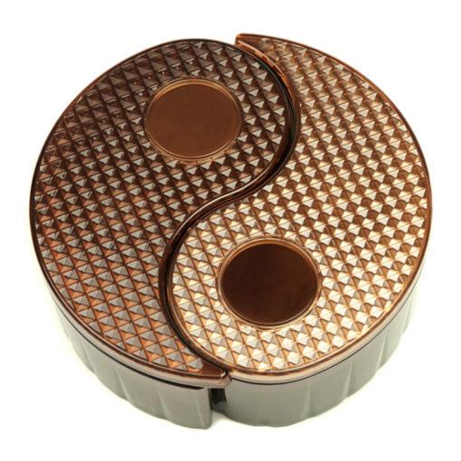 Yin Yang Storage Bin - Brown