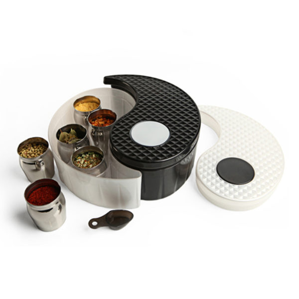 Yin Yang Storage Bin Set - Black & White
