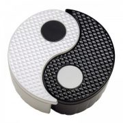 Yin Yang Storage Bin - Black and White