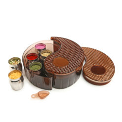 Yin Yang Storage Bin Set - Brown