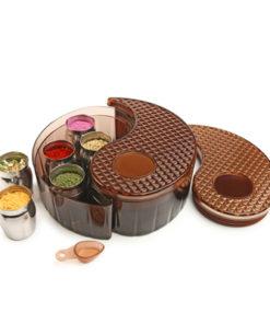 Yin Yang Storage Bin Set - Brown
