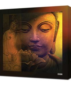 Canvas Wall Art – Buddha Collage