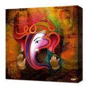Canvas Wall Art – Ganesh Collage