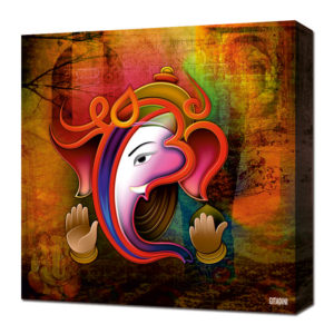 Canvas Wall Art – Ganesh Collage