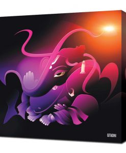 Canvas Wall Art – Modern Ganesh Purple