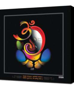 Canvas Wall Art – Modern Ganesh Black