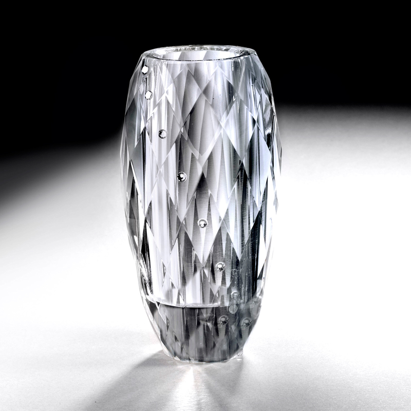 Crystal Vase with Rhinestones