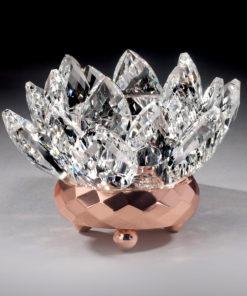 Crystal Lotus Votive Holder – Copper