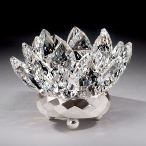 Crystal Lotus Votive Holder - Sliver
