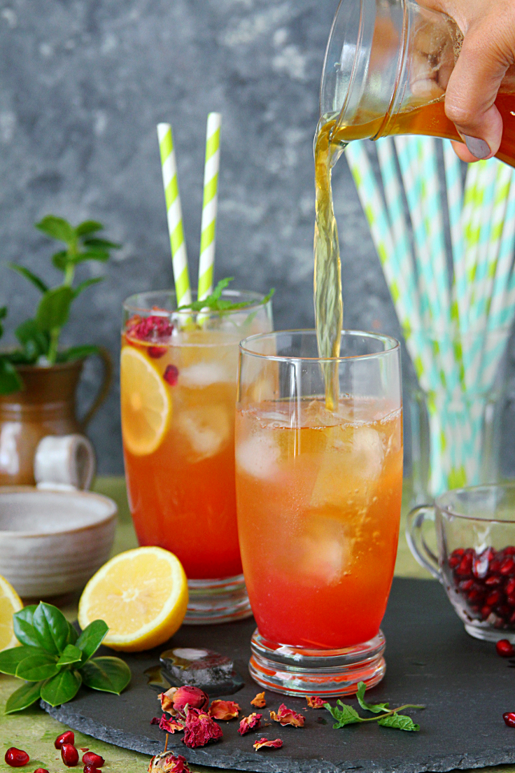 Pomegranate Rose Iced Tea