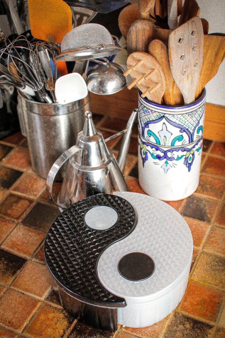 GitaDini Yin Yang Storage Bin on a kitchen counter